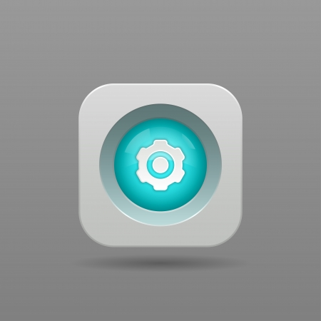 Gear Button - Vector App Icon Vector