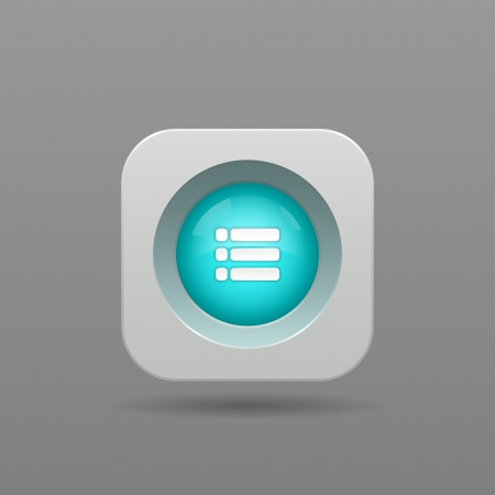 Playlist Button - Vector App Icon Vector