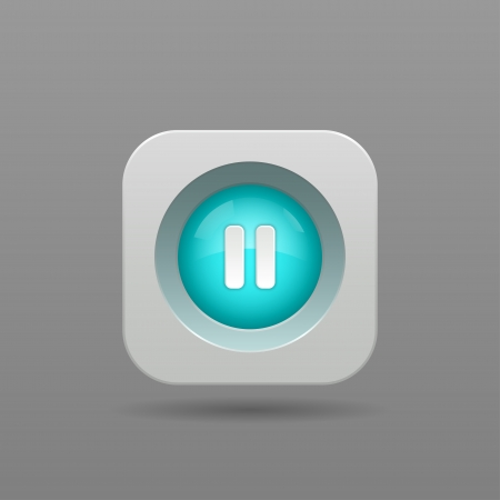 Pause Button - Vector App Icon Vector