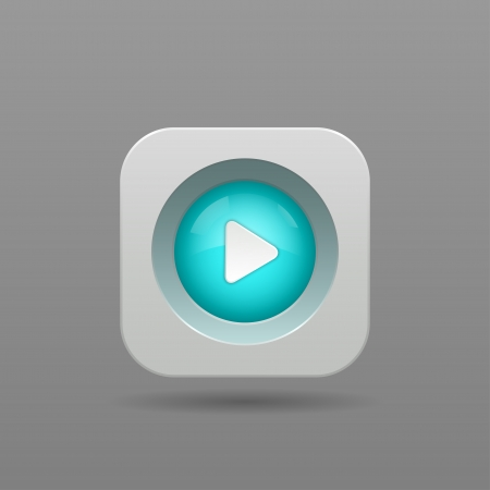 Play Button - Vector App Icon Vector