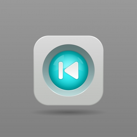 Previous Button - Vector App Icon Vector