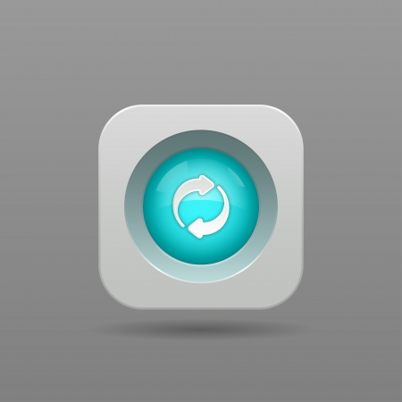 Refresh Button - Vector App Icon Vector