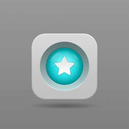 Star Button - Vector App Icon Vector