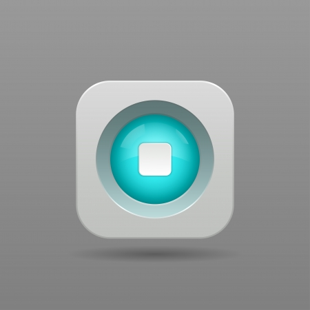 Stop Button - Vector App Icon Vector