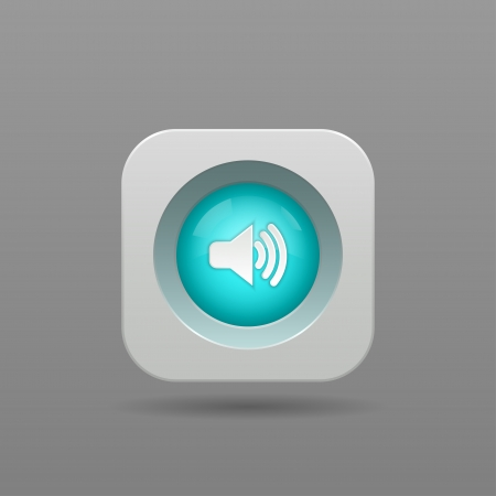 Speaker Button - Vector App Icon Vector