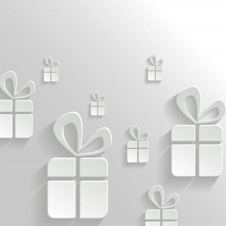 Vector Abstract weißen Hintergrund mit Geschenke