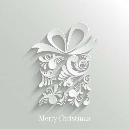 Absrtact Bloemen Christmas Gift achtergrond, Trendy Design Template