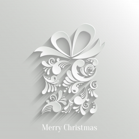 Absrtact Floral Christmas Gift Background, Trendy Design Template Vector