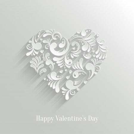 Absrtact Fondo del árbol de navidad floral. Tarjeta del día de San Valentín. Plantilla de diseño de moda