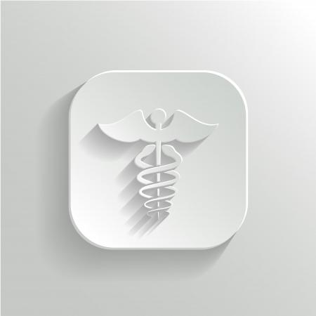 caduceus symbol: Caduceus Medical Symbol - Vector Icon with Shadow