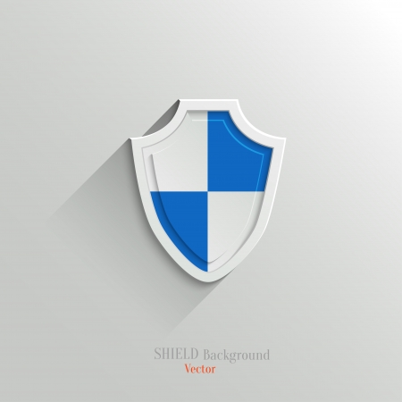 Guardian shield, protection icon in flat style with long shadow Vector