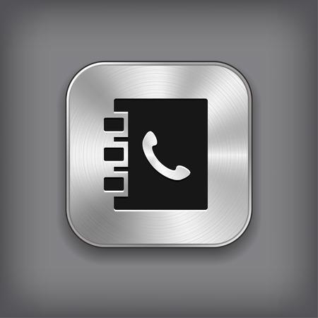 Notatnik ikonę - wektor metalowa aplikacja przycisk