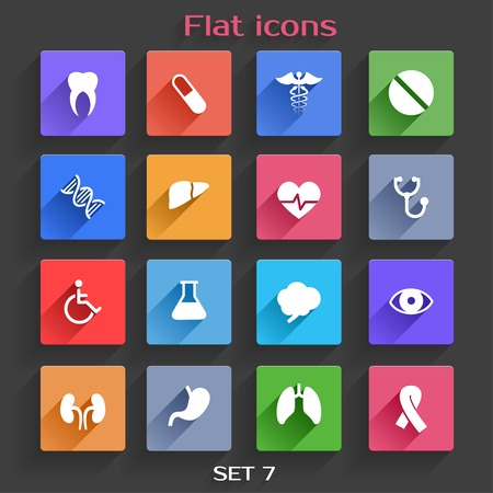 Vector Application  Web Icons Set in Flat Design with Long Shadows Vector