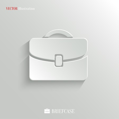 Briefcase icon - vector web illustration, easy paste to any background Vector