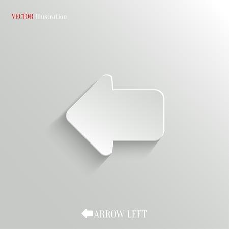 Arrow left icon - vector web illustration, easy paste to any background Ilustracja
