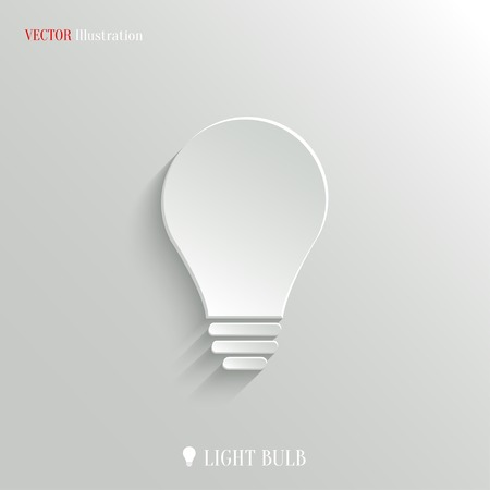Light bulb icon - vector web illustration, easy paste to any background