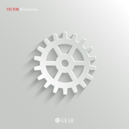 Gear icon - vector web illustration, easy paste to any background Vector