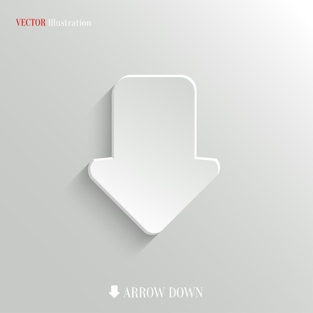 down arrow: Down arrow icon - vector web illustration, easy paste to any background