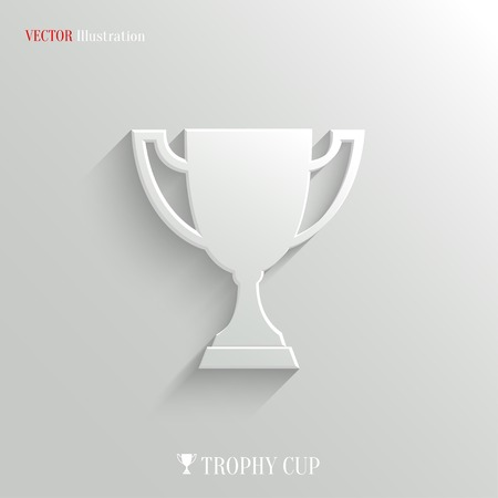 winning first: Trophy cup icon - vector web illustration, easy paste to any background Illustration