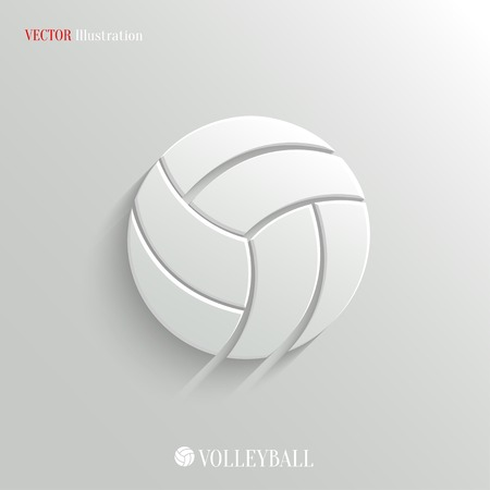 Volleyball icon - vector web illustration, easy paste to any background