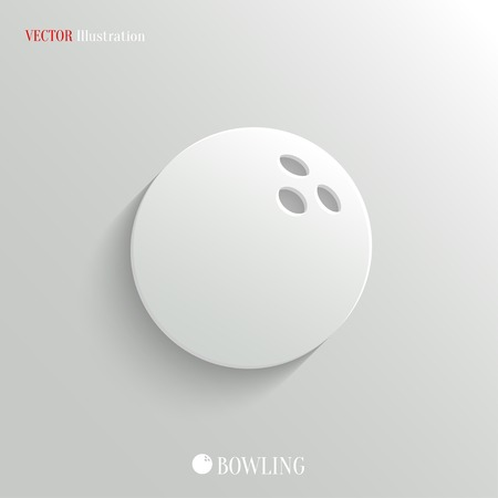 Bowling icon - vector web illustration, easy paste to any background Vector