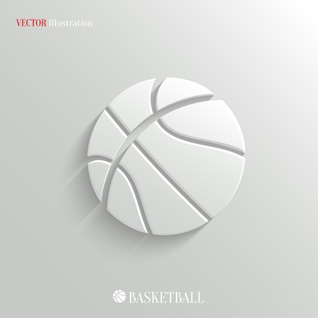 international basketball: Basketball icon - vector web illustration, easy paste to any background