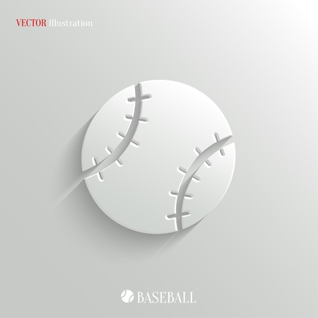 baseball ball: Baseball icon - vector web illustration, easy paste to any background