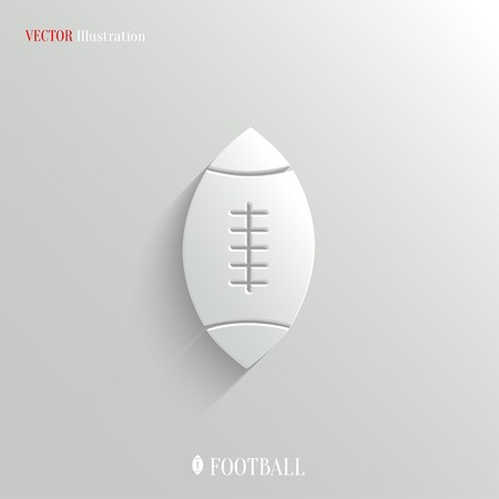 american football: Football icon - vector web illustration, easy paste to any background Illustration