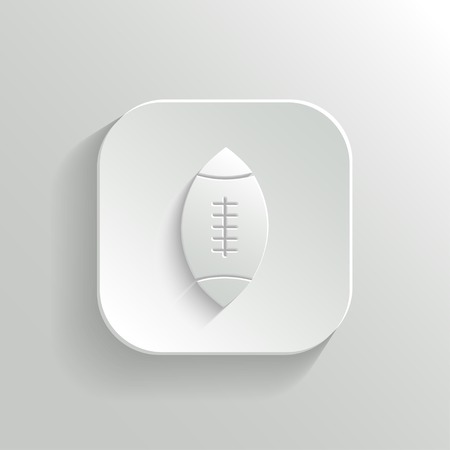 application sign: Football icon - vector white app button with shadow Illustration