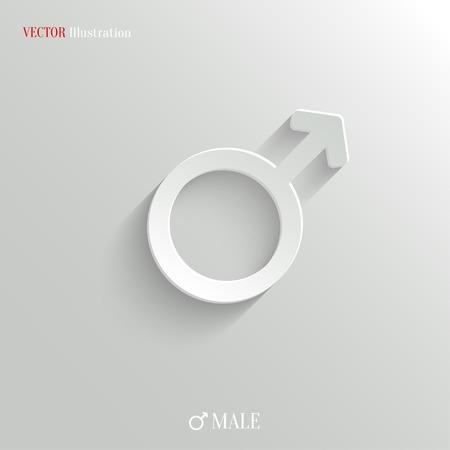 salud sexual: Icono masculino - vector web ilustración, fácil pegar a cualquier fondo