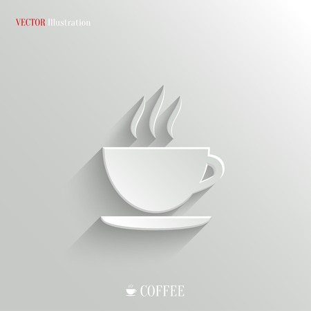 latte art: Coffee icon - vector web illustration, easy paste to any background Illustration