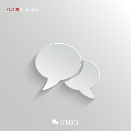 Speech icon - vector web illustration, easy paste to any background Vector
