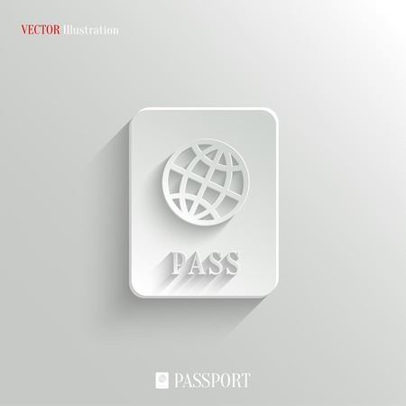 Passport icon - vector web illustration, easy paste to any background Vector