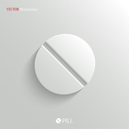 pastillas: Icono p�ldora Medicina - vector web ilustraci�n, f�cil pegar a cualquier fondo