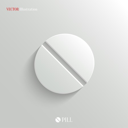 Medicine pill icon - vector web illustration, easy paste to any background Çizim