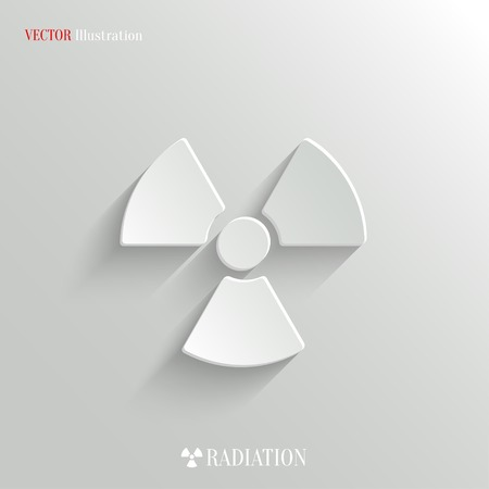 radioactivity: Radioactivity icon - vector web illustration, easy paste to any background