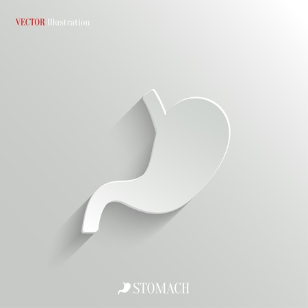 Stomach icon - vector web illustration, easy paste to any background