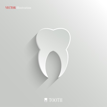 Tooth icon - vector web illustration, easy paste to any background Vector