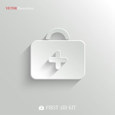 First aid. Medical Kit icon - vector web illustration, easy paste to any background Vector