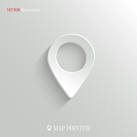 Map pointer icon - vector web illustration, easy paste to any background Vector