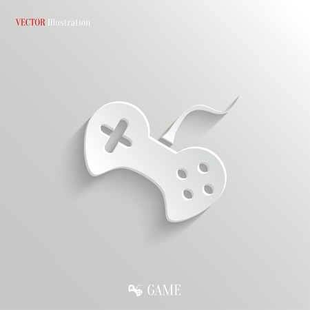 Video game icon - vector web illustration, easy paste to any background Vector