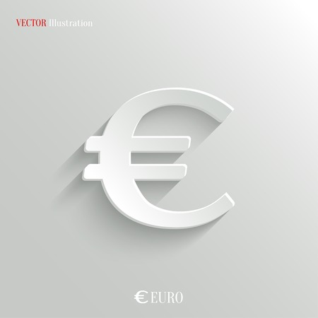 Euro Icon - vector web illustration, easy paste to any background