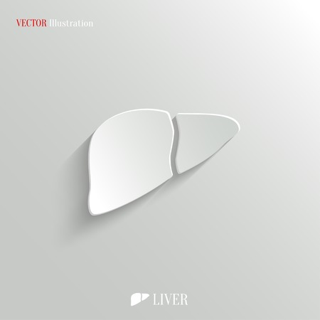 Liver icon - vector web illustration, easy paste to any background Vector