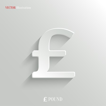 british pound: Pound icon - vector web illustration, easy paste to any background