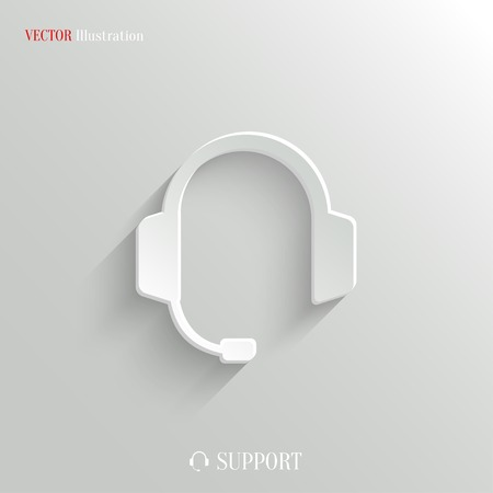headset symbol: Headphones with microphone icon Illustration