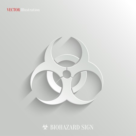 virus protection: Biohazard icon - vector web illustration, easy paste to any background