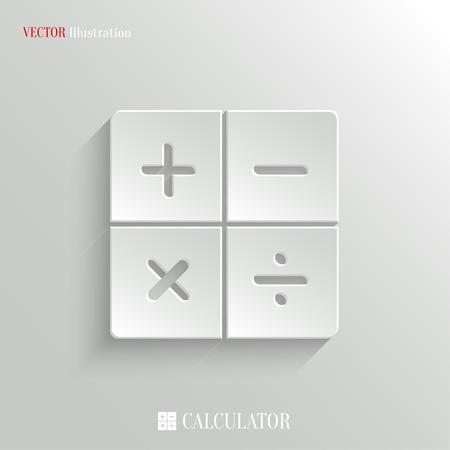 Calculator icon - vector web illustration, easy paste to any background Vector