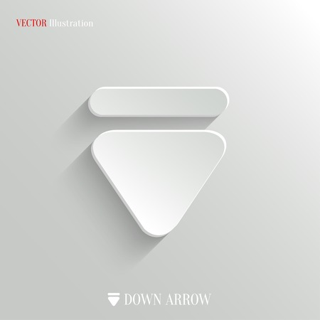 Down arrow icon Vector
