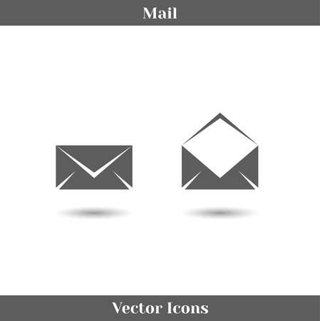 Vector Envelope Mail Icons Isolated on White Background. Flat Design Style. Vector
