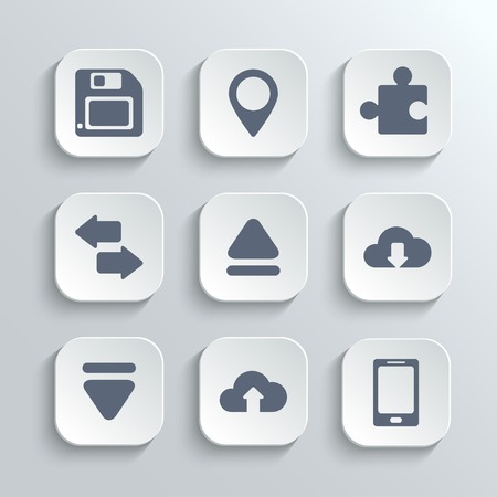 Web icons set Иллюстрация